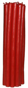 Beeswax Altar Large candles 12-15 pcs for church and home high quality Red