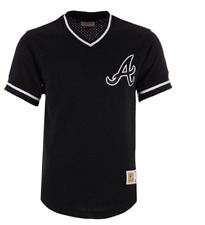 Mitchell & Ness Atlanta Braves Baseball Jersey New Mens LARGE