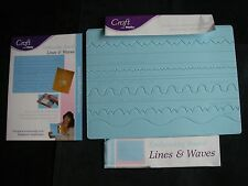 Craft with Helix Decorative CARD SCORING Embossing Board LINES & WAVES EC Bargn