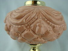 Victorian Stampato Peach-Lampada Olio di Rosa font, Art Nouveau Decorazione