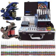 Pro Complete Tattoo Kit 2 Top Machine Gun 54 Ink Power Supply Needle TK221