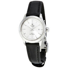 Tudor Style Silver Dial Automatic Ladies Watch 12110-SVLS