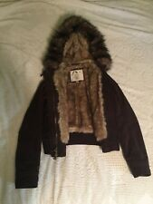 Abercrombie Brown Parka Coat- Female Small