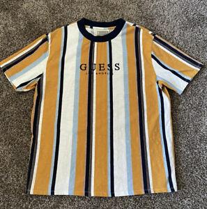 GUESS Originals Los Angeles Striped T Shirt Size Large
