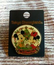 Tokyo Disneyland Pin Christmas 2000 with Mickey and Minnie Mouse Disney