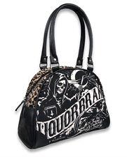 Liquor Brand Death Banner Punk Tattoo Skull Bowling Bag Purse Handbag B-OBW-034