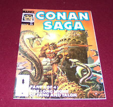 Conan Saga #39 (June, 1990 Marvel) Comic Magazine Barbarian Ernie Chan Cover