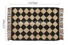 Rugs Area Rug Kilim Wool Jute Carpet Flooring Mat Throw Dhurrie Runner 2x3' ft