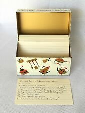 VINTAGE Ohio Art Metal 3x5 Recipe Card Holder Box Just Like Grandma Used To Have