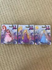 NEW Disney Princess Easy Open Figurine Set Of 3 Ariel Cinderella Rapunzel