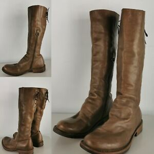 Fiorentini + Baker Emma Tall Leather Lace Up Brown Boots Size 40 UK 7-8 US 9-10