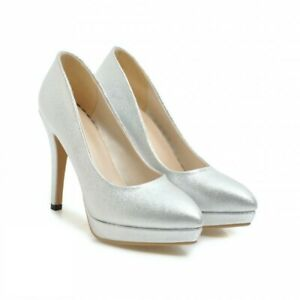 New Women's 3 Colors Comfort Stilettos Heel Pointy Toe Party Dress Pumps Shoes D