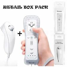 BRAND NEW WHITE REMOTE CONTROLLER + NUNCHUCK FOR NINTENDO WII UK SELLER
