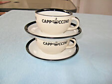 2 Sets Marks & Spencer Cappuccino Mugs & Saucers Great Britain