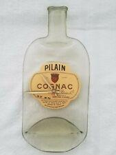 Pilain Cognac Flattened Bottle Wall Clock Handmade