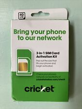 Brand New: Cricket Wireless Universal 3-in-1 Sim Kit - Bring Your Own Phone