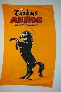 Große Mastfahne vom Zirkus AEROS, dicker Baumwollstoff, Größe 125x200cm (22147)