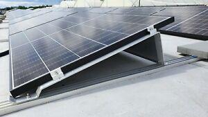 Montagesystem für Solarmodule 15°, Unterkonstruktion  mit 1600mm Bodenschiene