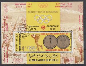 Stamps Briefmarken Jemen Block Olympiade  o