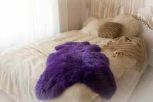 Genuine Sheepskin Rug Orange Blue Turquoise Green Amarant Pink Yellow Purple Red