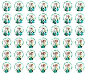 216 Frozen Fever Hershey Kiss Labels Stickers Favors Personalized ANY VARIETY OK