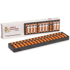 """17 Column Math and Counting Learning Aid Educational Toy Beads Abacus - 10.5"""""""