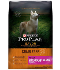 Purina Pro Plan SAVOR Grain-Free Shredded Blend Adult Dry Dog Food Beef & Salmon
