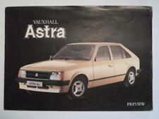 VAUXHALL ASTRA orig 1979 1980 UK Mkt Sales Preview Brochure