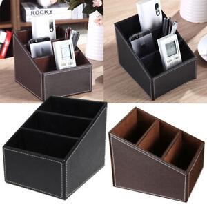 Tabletop Storage Organizer TV Remote Control Holder Makeup Stationery Pen Box