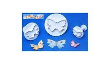 FIMO CERNIT - Set 3 mini stampini taglia pasta Plunger Cutters - Farfalla