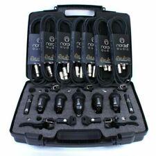 Nordell 7-Piece Drum 7 x 3m XLR Cable Microphones Set