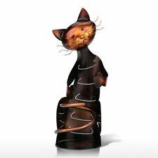 Metal Sculpture Cat Shaped Wine Bottle Holder Home Decoration Wine Rack New Z1B0