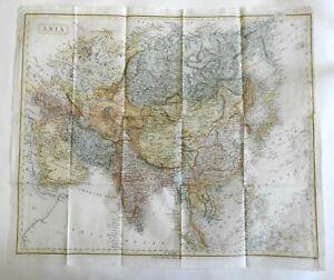 Asia 1844 scarce Harper Copley large map Arabia Hindoostan China Philippines