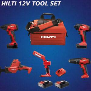 HILTI 12V SET, 5 TOOLS: SID 2-A, SFD 2-A, SF 2-A, SL 2-A, SR 2-A, COMPLETE