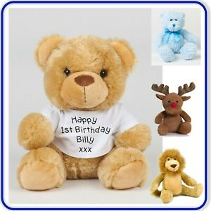 Good Quality Personalised TEDDY BEAR PRINTED TEXT Large Soft Toy Printed Bears