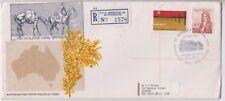 Postmark Brisbane GPO centenary on long wattle generic cover APM4810 registered