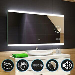 Badspiegel mit LED Beleuchtung Lichtspiegel Badezimmerspiegel Bad Spiegel L47