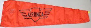 "Aeronca Custom Vintage Styled Airport Windsock, 13"" x 60"", Red"