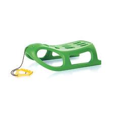 Schlitten SEAL Kinderschlitten Kunststoff Zugseil grün