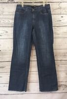 Venezia Jeans Size 14 Tall Straight Leg Trouser Jeans Medium Wash Women's Denim