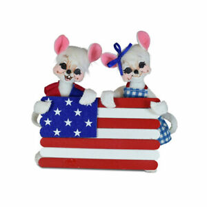 Annalee Dolls 2021 4th of July 5in Stars and Stripes Mice Plush New with Tag