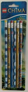 New Lego Legends Of Chima No.2 Wooden Pencils Package of 6
