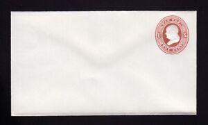 Scott UO18 UPSS WD1 1c Dark Red on White, Mint Entire, Scott Cat 1,000.00