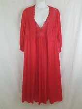 SHADOWLINE New Women's Red 2 pc Gown Robe Peignoir Lingerie Set Plus Size 1X
