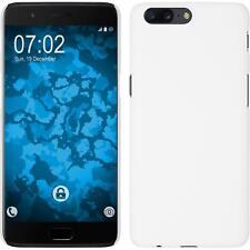 Funda Rígida OnePlus OnePlus 5 - goma blanco + protector de pantalla