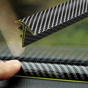 160cm Carbon Fiber Car Dashboard Gap Filling Sealing Rubber Dustproof Strip