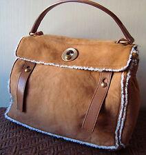 Auth YSL MUSE due Limited Edition nell'Tan pelle di pecora bag borsa sac