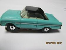 AURORA THUNDERJET SLOT CAR 1963 FORD FAIRLANE HARDTOP #1353 TURQUOISE/GRAY/BLACK