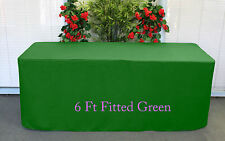 Trestle Table cover Fitted Green to fit 6 foot Table folding market stall U