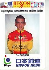 CYCLISME carte cycliste ERIC POTIRON équipe BESSON CHAUSSURES